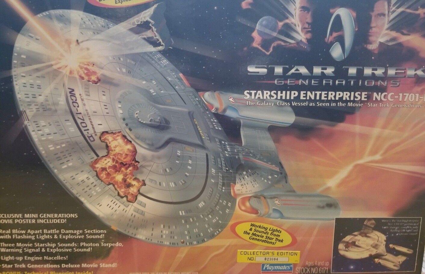 NEW SEALED Playmates Star Trek Generations BATTLE  NCC-1701D (VINTAGE)