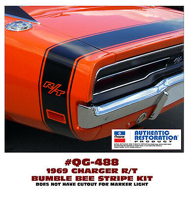 QG-540 1969 DODGE CHARGER DECAL KIT NO R//T NAME BUMBLE BEE REAR STRIPE