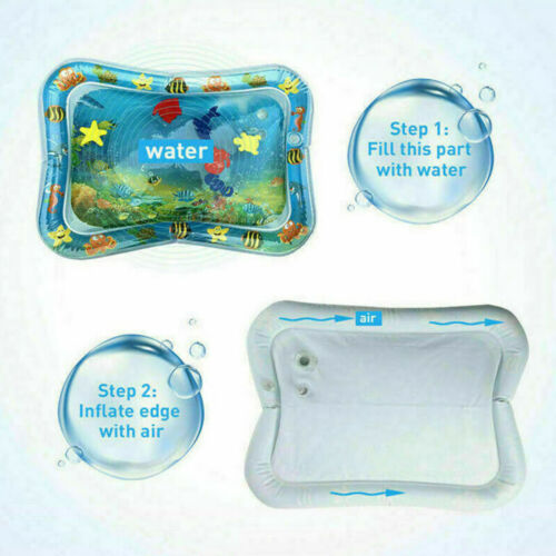 Baby Wasserkissen Spielmatte Aufblasbare Spielzeug Früherzieh Bauch-Zeit-Seewelt