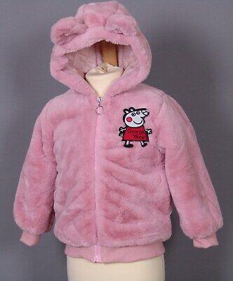 Neu rosa Mädchen Baby Winterjacke Peppa mit Kapuze Gr 80