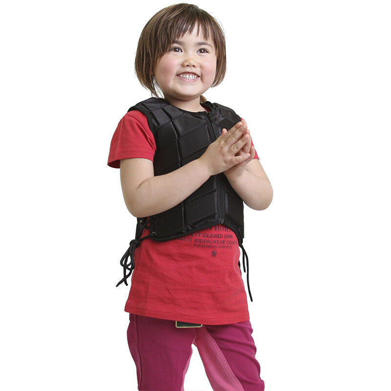 Equestrian Horse Riding Vest Kid Adjustable Padded Body Predector Gear Waistcoat