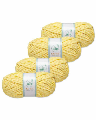 SO CRAFTY  SOFT SUPER BULKY BABY YARN PINEAPPLE SLICE 4 X 100g