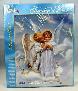 White-Mountain-Puzzles-034-Angel-Kisses-034-1845-1000-Extra-Large-Pieces-Puzzle-New