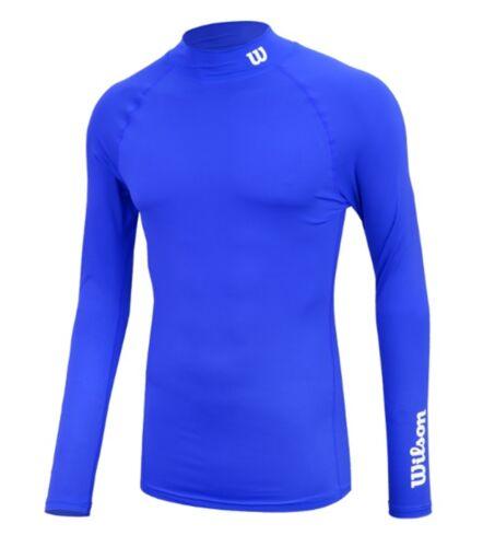 Wilson Men Span-under L//S Shirts Black Red Blue Running Jersey Shirt WT5BA0300