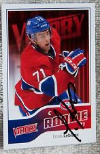 Montreal Canadiens Louis Leblanc Signed 11/12 UD Victory Rookie Card Auto