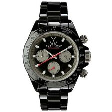 Mens Ladies Toy Watch CM04BK Ceramica Chronograph Black Ceramic Link Band Sport