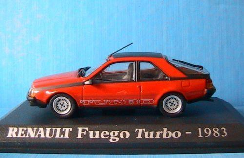RENAULT FUEGO TURBO 1983 ROUGE 1 43 UNIVERSAL HOBBIES