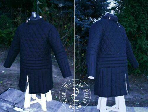 Blue Thick padded Gambeson Halloween Medieval Jacket Armor COSTUMES