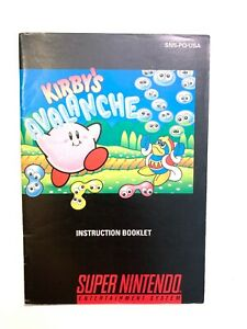 Kirby-039-s-Avalanche-Super-Nintendo-Instruction-Manual-Booklet-Book-NO-SNES-GAME