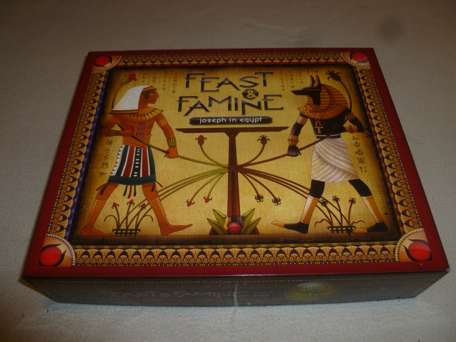 BOXED BOARD GAME FEAST & FAMINE JOSEPH IN EGYPT GOOD KNIGHT GAMES BIBLE ISRAEL