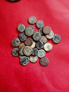 UNCLEANED-AND-UNSORTED-DESERT-ROMAN-CROSS-COINS-Very-Rare-to-find