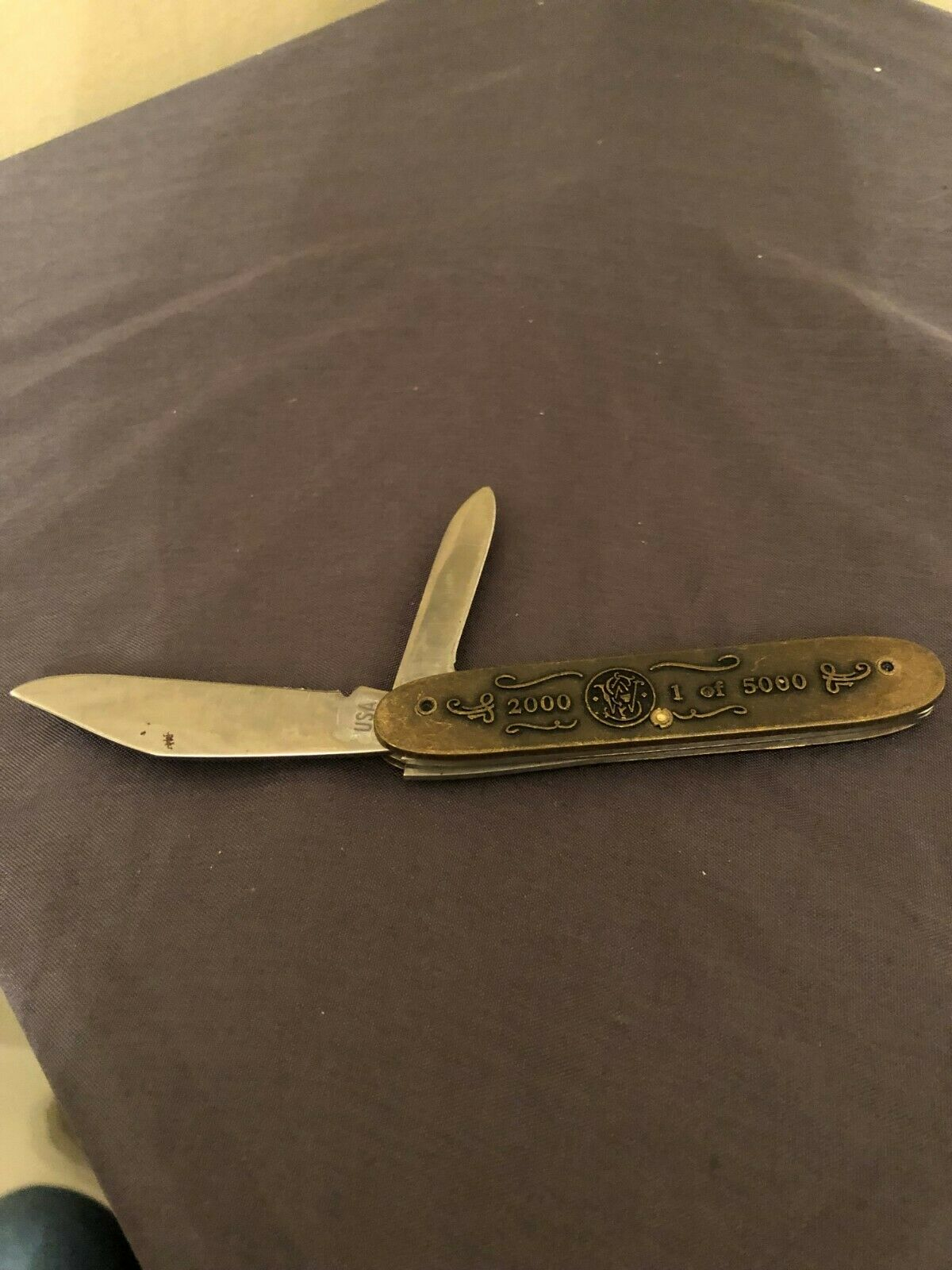 Vintage Smith & Wesson Leaders Stand Alone 2 Blade Pocket Knife 2000 1 of 5000