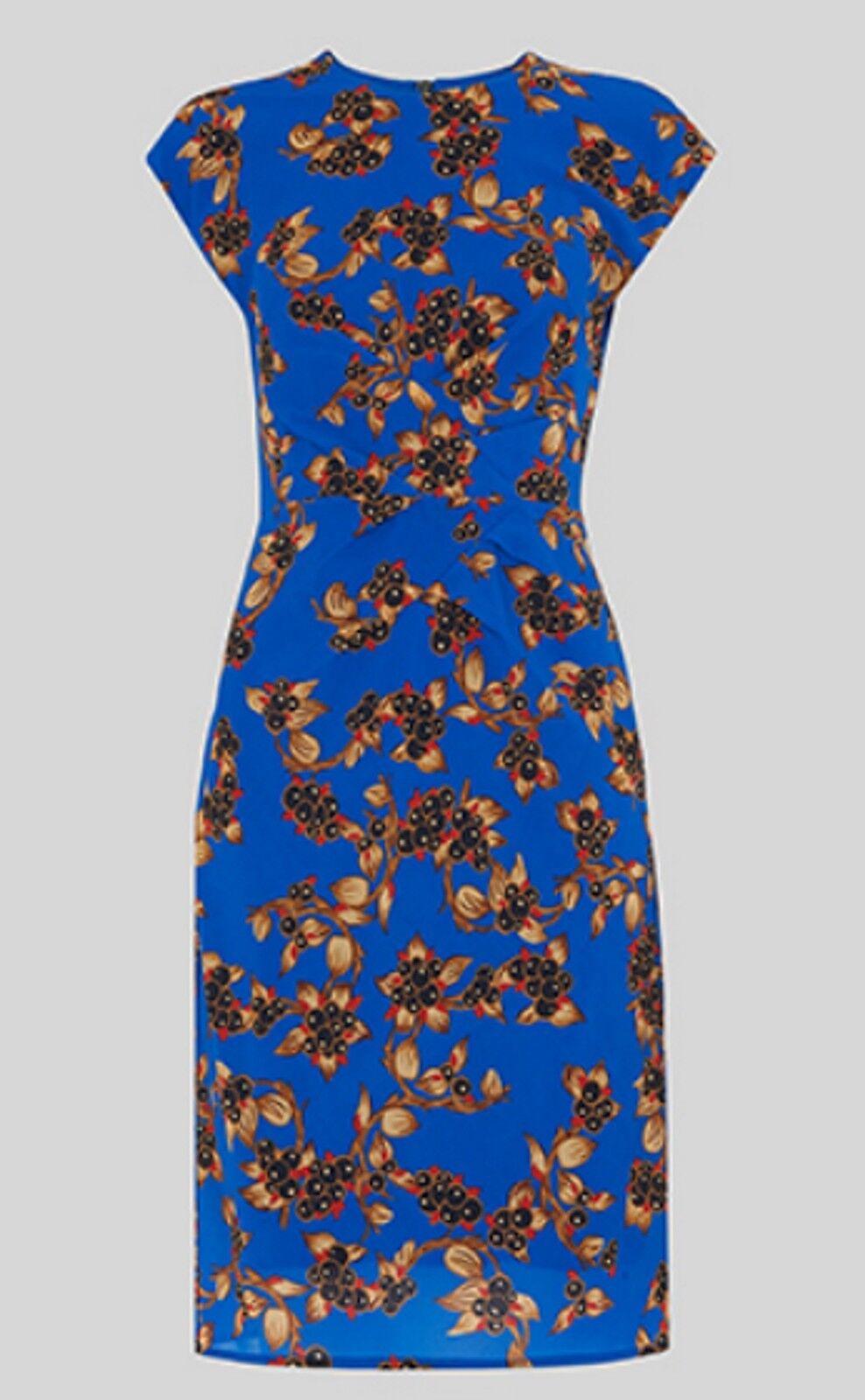 Whistles Capri Print Silk Bodycon - Blau Blau Blau Multi - U.K. 14 - Brand New With Tags | Adoptieren  | Online Kaufen  | Stilvoll und lustig  6cf66c