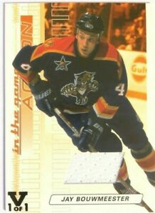 2003-04-In-The-Game-Action-Bronze-Jersey-Jay-Bouwmeester-Vault-Black-1-1-M-154