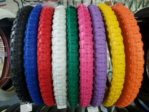 DURO 18X2.125 BMX BICYCLE TIRES COMP 3 CHOOSE COLOR AT CHECKOUT N MESSAGE 2 TWO