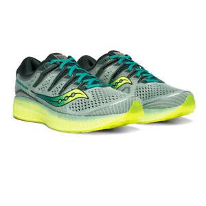 SAUCONY-Da-Uomo-Triumph-ISO-5-Scarpe-Da-Corsa-Ginnastica-Blu-Verde-Sports