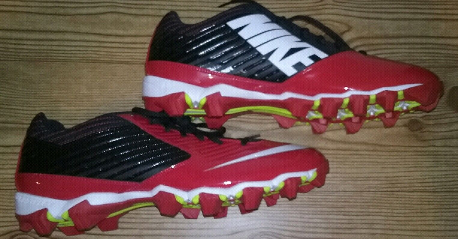 info for dacb1 945a3 Nike Nike Nike 643162-016 Vapor Shark Red Black Cleats Mens Size 13 BRAND  NEW