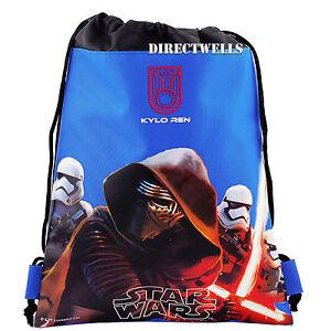 9c58b003e69 Image is loading Disney-Star-Wars-Blue-Drawstring-Bag-School-Backpack