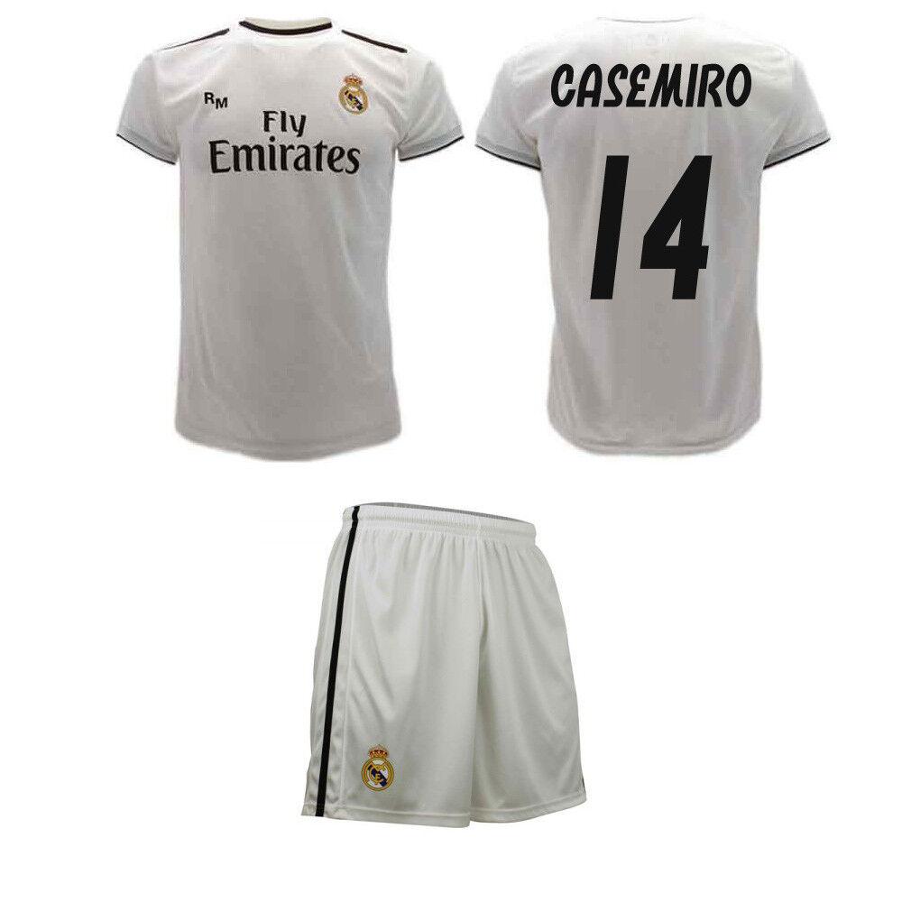 Completo Casemiro Ufficiale Real Madrid 2019 Maglia e Pantaloncini autolos 14