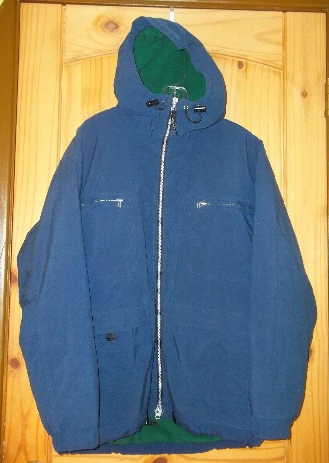 Woolrich Navy bluee Hooded Fleece-lined & Insulated Coat, Mens M