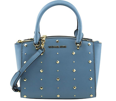 NWT Michael Kors Ellis Small Convertible Satchel bag Sky Blue 35H7GEOS5L 191935006110 | eBay