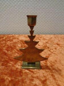 Miniature-Brass-Candle-Holder-Christmas-Tree-Christmas-Vintage-7-5-CM