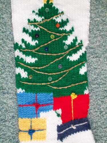 Pattern Only Hand Knitted CHRISTMAS TREE Stocking