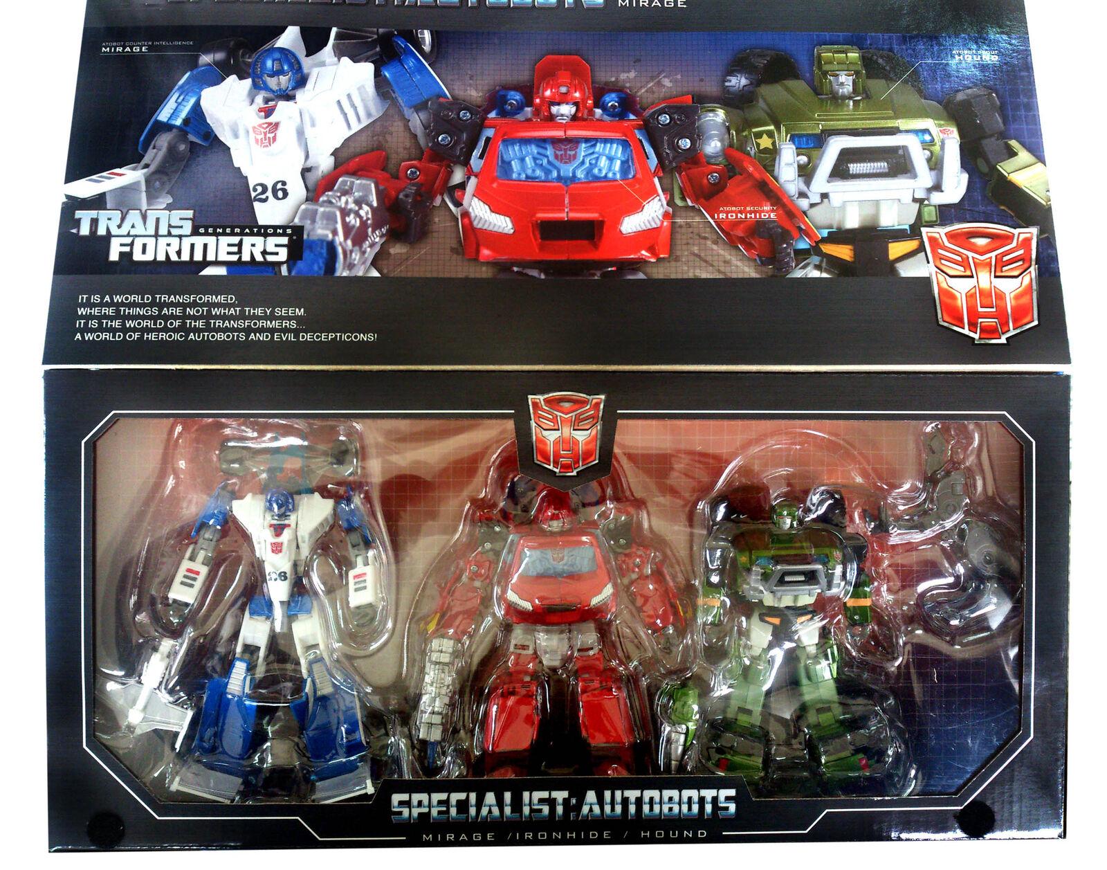 Takara Transformers Henkei Asia Autobot Specialists Ironhide Hound Mirage UK