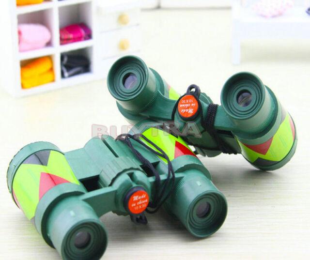 Camouflage Green Plastic 10x 30mm Binocular Toy Fun Boy for Child Kids Gift RG