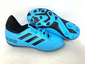 NEW-Adidas-Youth-Boy-039-s-Predator-S-FXG-Soccer-Cleats-Light-Blue-Black-A19-tz