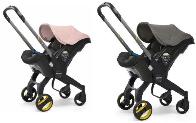 New Doona car seat stroller Urban Grey & Free Blush Pink colour pack birth -13kg