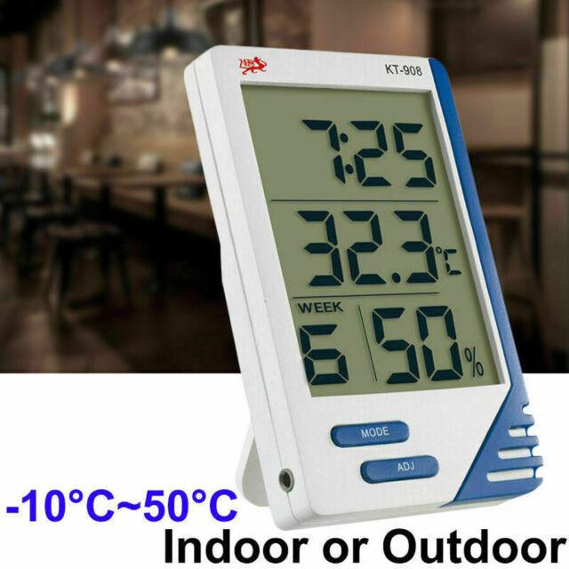 Digital LCD Temperature Hygrometer Outdoor Indoor   Thermometer Humidity Meter