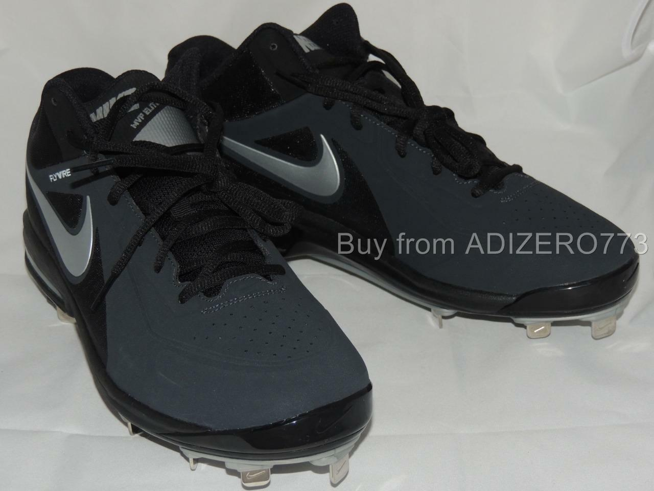 NIKE 524957 MVP Elite metal baseball cleats Mid Cut  524957 NIKE 001 Black NEW!! Mens 1b5ead