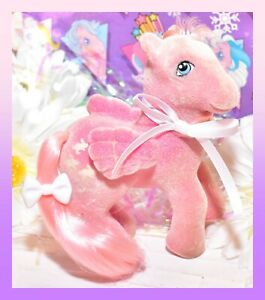 My-Little-Pony-MLP-G1-Vtg-So-Soft-Hippity-Hop-Flocked-Fuzzy-Bunny-Pegasus