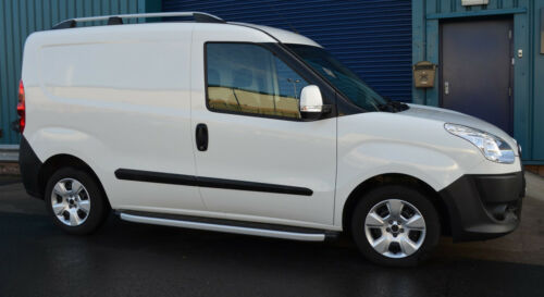 2010+ Aluminio Baca BARRAS rieles laterales juego para caber SWB Fiat Doblo