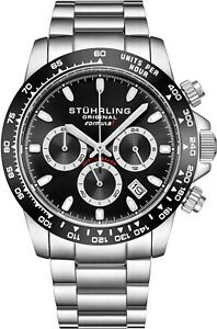 Stuhrling-891-Men-039-s-Sport-Formula-034-i-034-Stainless-Steel-Quartz-Chronograph-Watch