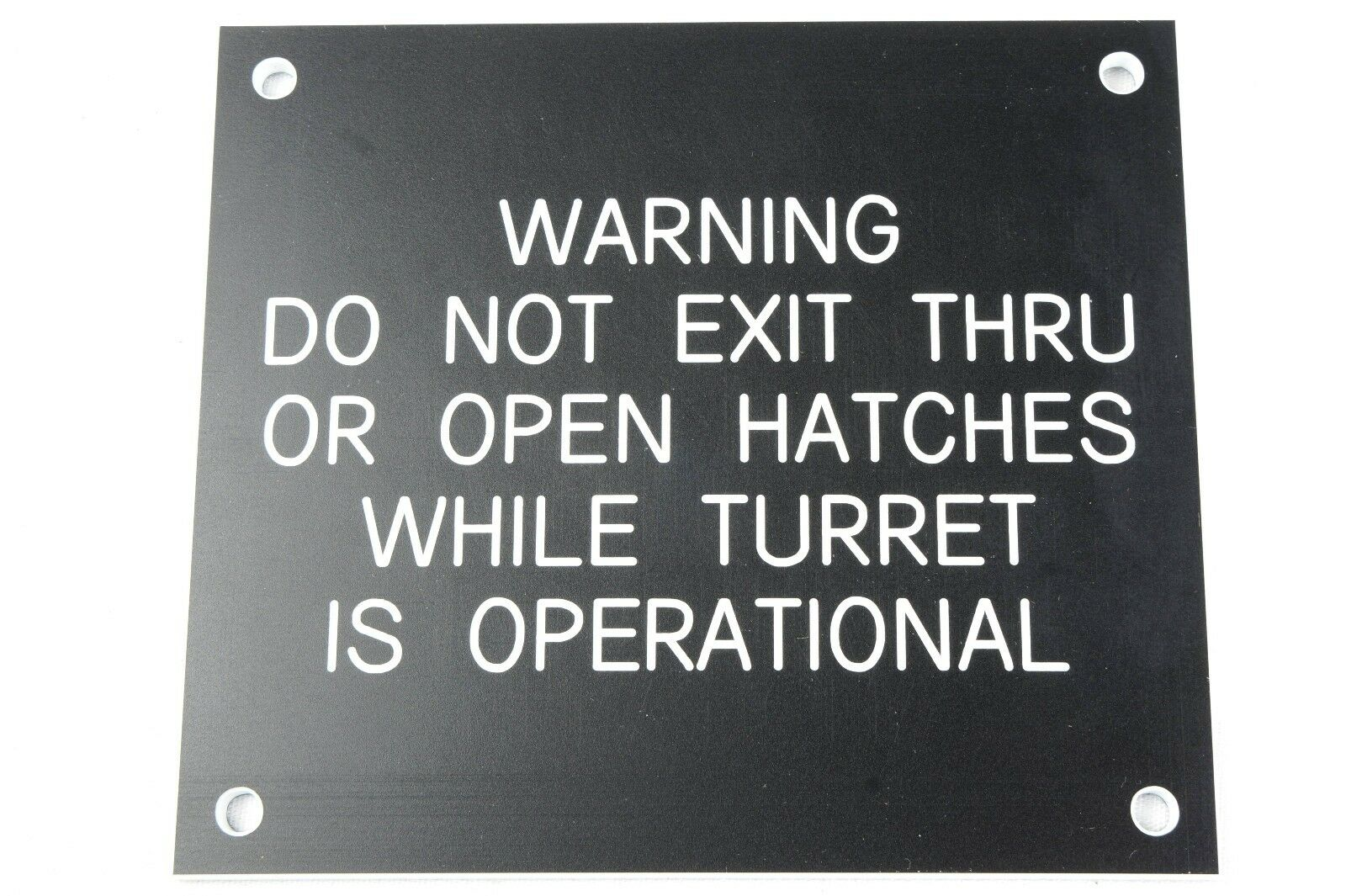 US Army Door Warning Sign Plate