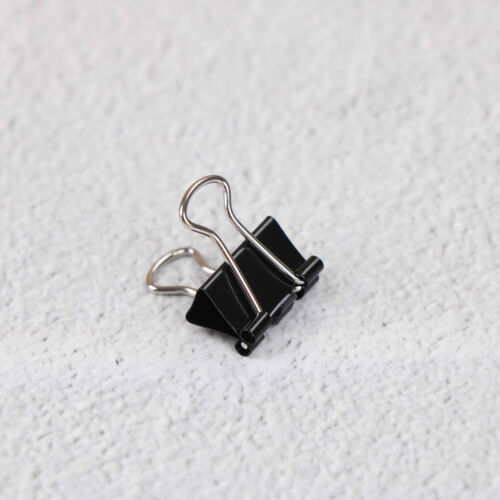 12x Black Metal Binder Clips File Paper Clip Photo Stationary Office Supplies Sa
