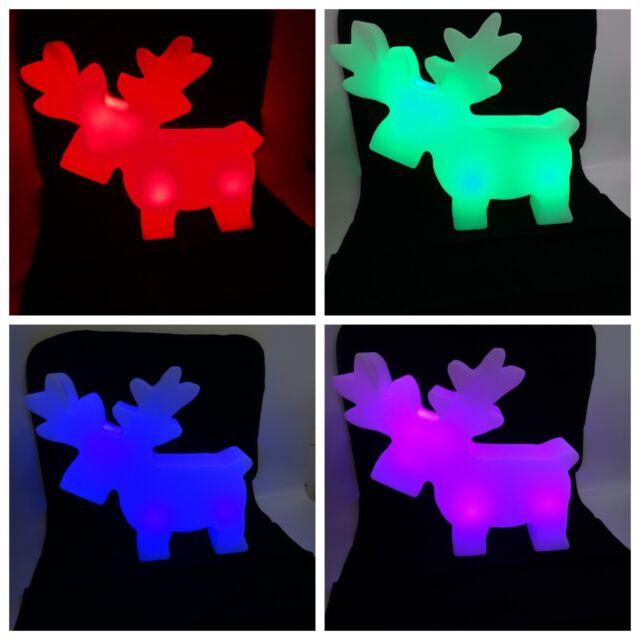 Weihnachtsdeko Günstig Auf Rechnung.Tarrington House Leuchtender Led Elch Versch Farben Akku 49 Cm Weihnachtsdeko
