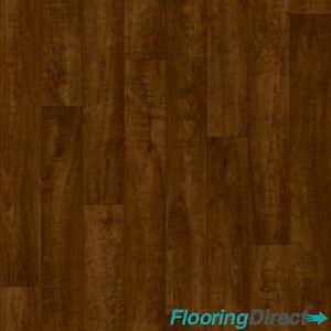 Non Slip Old Oak Wood Effect Vinyl Flooring Lino Kitchen Bathroom 3m Amp 4m Cheap Ebay