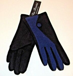 Pia-Rossini-Joanna-2-Tone-Wool-Rich-Gloves-Black-amp-Sapphire