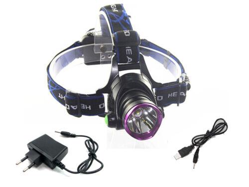 2200Lumens CREE XM-LT6 LED18650 Head Light Headlamp Headlight Torch USB lineLamp