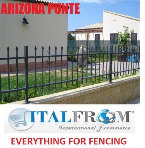 railing galvanized wrought iron Arizona spikes Fence panel standard