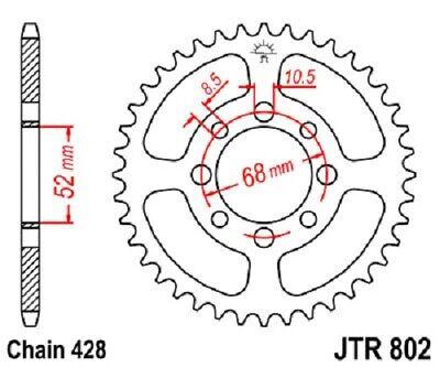 JT Sprockets JTR802.34 34T Steel Rear Sprocket
