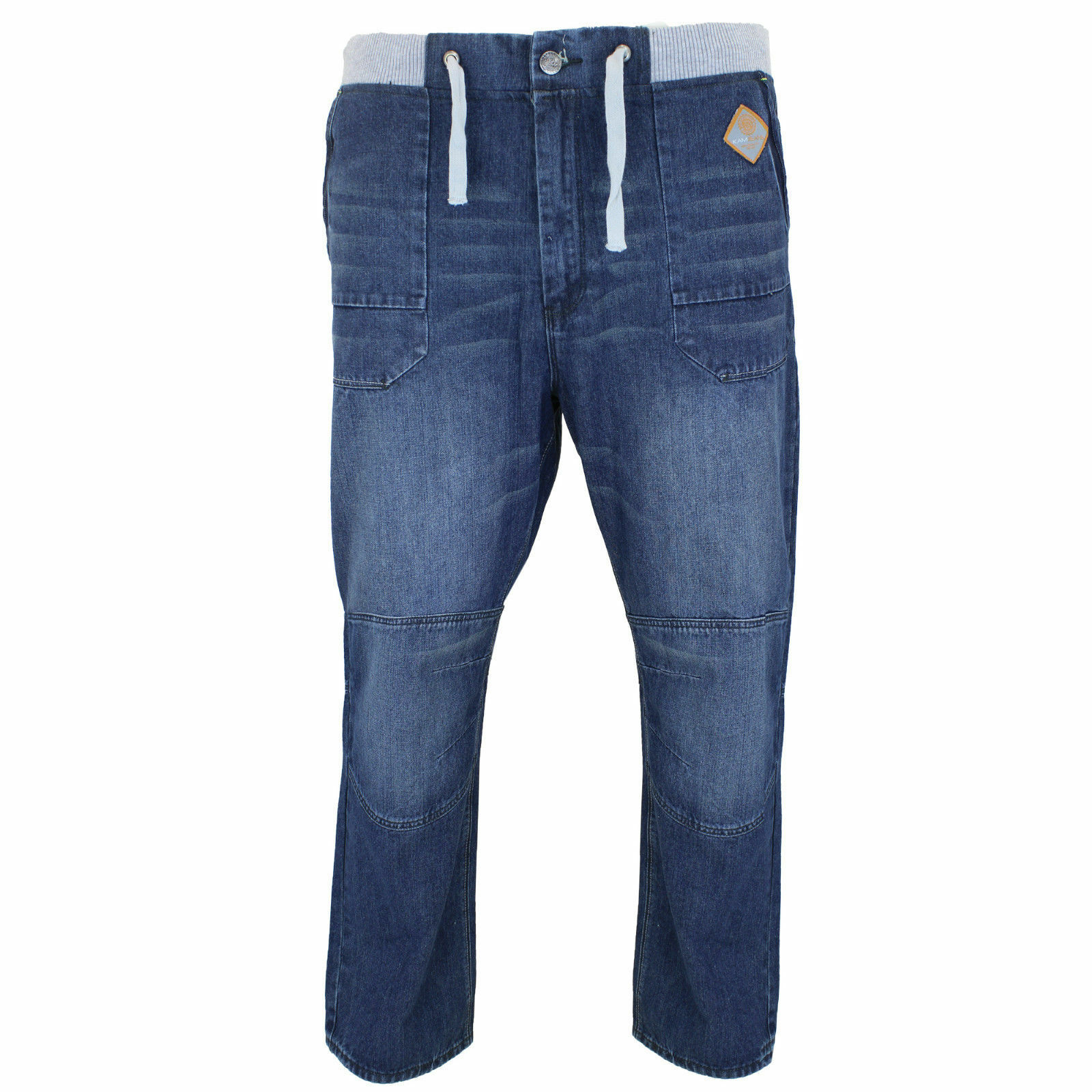 New Mens 40-60 Branded Delroy bluee Big king plus  Jeans Elasticated Relax fit