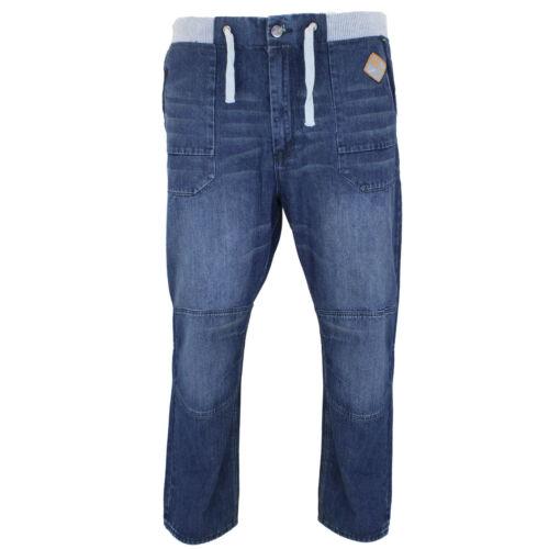 NUOVA linea uomo 40-60 marca DelRoy Blu Big King Plus Jeans Elasticizzati Vestibilità Relax
