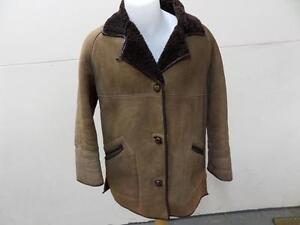 shearling pelle Women Brown taglia marrone Shearling Cappotto Coat Leather vera pelle Sheepskin di pecora 38Real di 38 di Size 76ybfgY