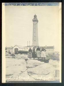 Bretagne, PENMARC'H, le Phare d'Eckmühl en 1904, Vintage argentic print 12x9