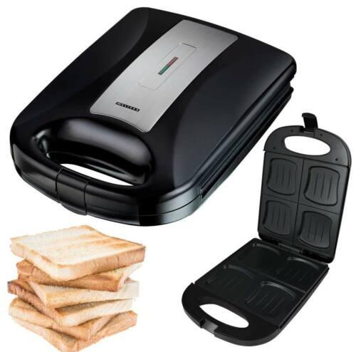 Großer XXL-Sandwich-Toaster Muschelform für 4 Toast-Scheiben 4er Sandwich-Maker