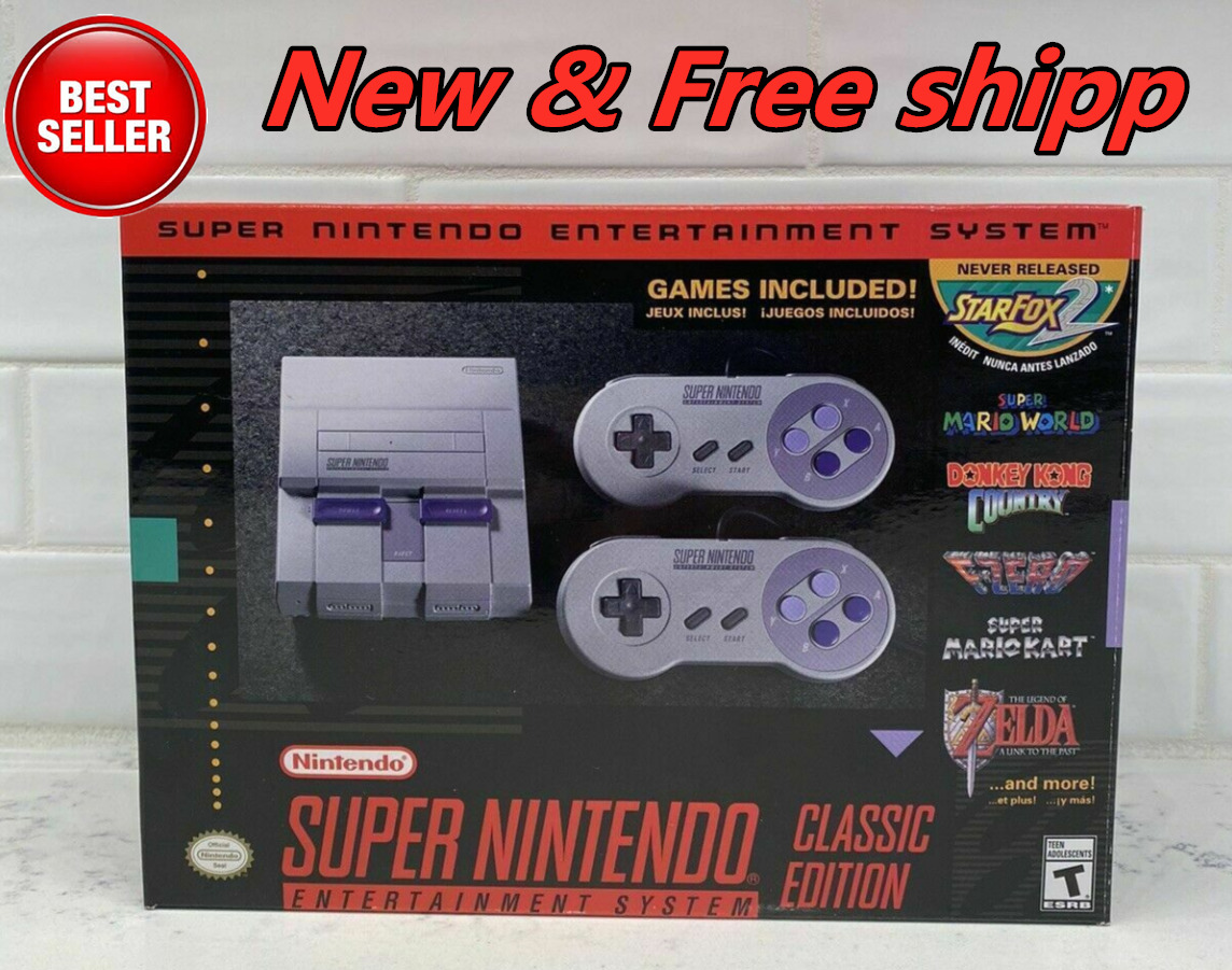in stock! Mini Super Nintendo SNES Classic Edition Game Console HD w/ 21 Games